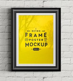 20 Free PSD Templates to Mockup Your Poster Designs  - PSD Poster Frame Mockup by Pixeden