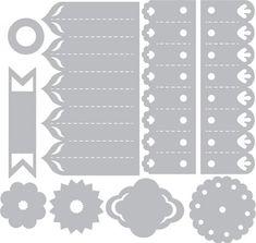 Sizzix - Thinlits Die Set 9PK - Dena Designs - Rosettes