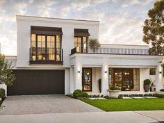 Classic House Exterior, Classic House Design, House Front Design, Dream House Exterior, Modern House Design, Exterior Design, Facade Design, Architecture Design, Landscape Architecture