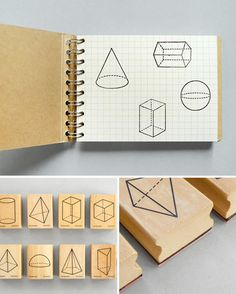 Polyhedra Rubber Stamps by Present & Correct