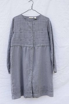 Restyled Linen Tunic TopUpcycledButton Down TunicLong Tunic