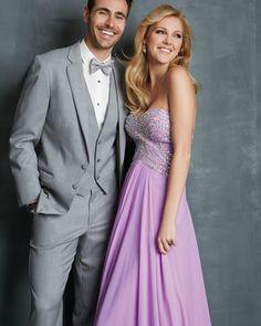 Beautiful purple prom gown
