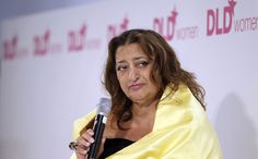 Architectural lady in yellow. Zaha Hadid.   There are architects… There are famous architects… There are very famous, world-famous architects… And then there is Zaha. Prima Dona of the art scene. Drama queen of the modern design. Architectural Diva.