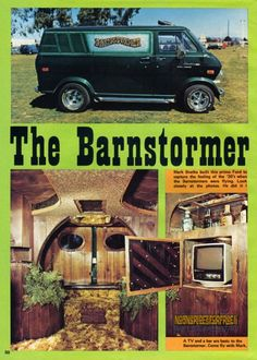 The Van Craze of the 70s - Mural on exterior, Custom Hangout on the inside with wall to wall shag carpet