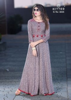 Having fabric viscose. The ethnic pattern for the kurti adds a sign of magnificence statement with a look.A Kurti Brand by Khantil Group Indian Gowns Dresses, African Fashion Dresses, Hijab Fashion, Indian Fashion, Kurta Designs Women, Blouse Designs, Printed Gowns, Kurti Designs Party Wear, Designs For Dresses