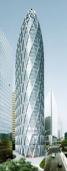Tower D2, La Defence, Paris, France by Anthony Bechu Architect :: 37 floors, height 160m