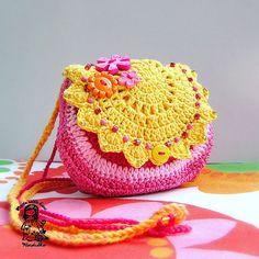 Handmade crochet purse Summertime coll Sunny door VendulkaM, $30.00