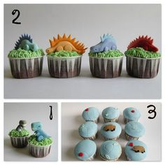 @jo Jackson some very do-able fondant dinosaurs with how to tutorials...