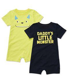 Carters Baby Set, Baby Boys Monster Romper Set - Kids Baby Boy (0-24 months) - Macy's