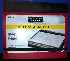 Mead Five Star Index Card Keeper Holder School College Notes Math Coupons Cards $6.99 Free Shipping