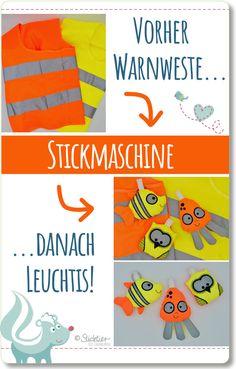 ITH Stickdatei Taschenanhänger, Leuchtende Anhänger für die Schultasche, Taschenanhänger, Upcycling