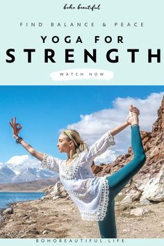 This yoga for strength class is all about finding balance and peace, while practicing challenging yoga poses. You will end class feeling stronger within. Beautiful Yoga Poses, Boho Beautiful, Beautiful Life, Fitness Tracker, Namaste, Fitness Motivation, Morning Yoga Routine, Face Yoga, Restorative Yoga
