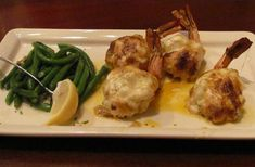 My attempt to re-create Pappadeaux's exquisite Stuffed Shrimp Montage dish at home.