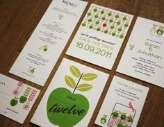 Inspired by Scandinavian design comes this colourful and fun apple and pear orchard farm theme wedding invitation set.This listing is for a 6 piece wedding invitation set in the format of a digital fi..