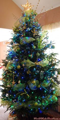 Peacock Christmas color tree, from Iryna