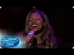 "Performing a rendition of Frank Sinatra's ""My Funny Valentine,"" Amber Holcomb wanted to show more of her personality.  #idol #americanidol. Darling girl and did you see KU get all excited? #2520appreciatesbrowngirl"
