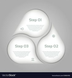 Business concept with 3 options Royalty Free Vector Image Circle Infographic, Infographic Templates, Infographics, Free Vector Images, Vector Free, Abstract Backgrounds, Catalog, Presentation, Royalty