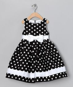Take a look at this Black & White Dotty Dress - Infant, Toddler & Girls by Spring Soire: Girls' Dresses on #zulily today! sarahandava