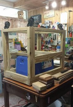 our version of a rustic cooler, diy, outdoor living, patio, rustic furniture, woodworking projects