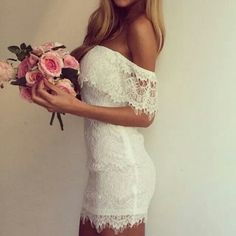 White dress Fashion Style