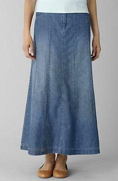 Anja Maxi Skirt | Denim skirt