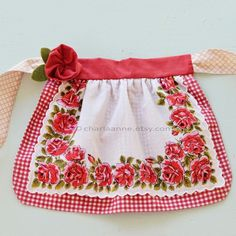 vintage handkerchief apron for a little girl's or baby's ofest dress! Someday....