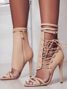 Roman Buckle Strap Shoes Women's Sandals Sexy Gladiator Lace Up Shoes Peep Toe Sandals High Heel Schnür Heels, Strap Heels, Stilettos, Women's Shoes Sandals, Stiletto Heels, Women Sandals, Shoes Women, Heeled Sandals, Dress Sandals