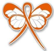 MS Ribbon Color   MS Multiple Sclerosis Orange Ribbon Butterfly Pin New   eBay