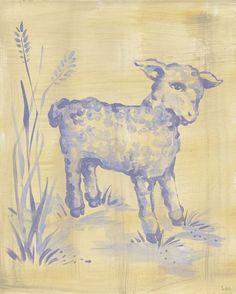 Wall Decor    Toile Lamb Canvas Reproduction