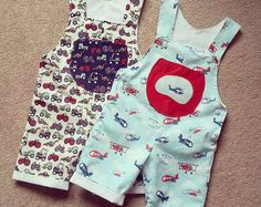 Baby Romper sewing pattern Pdf, Overall Dungaree pattern, children toddler, LITTLE BIRDS Baby Girl Boy neworn 3 6 9 12 18 months 2 years