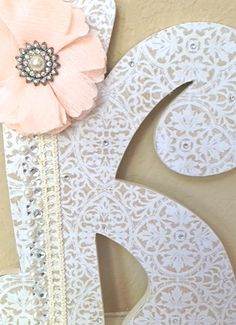 Custom Wooden Nursery Letters  Baby Girl Nursery by TheRuggedPearl, $20.00