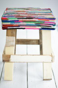 wood & wool stool monika #1 | Flickr - Photo Sharing!