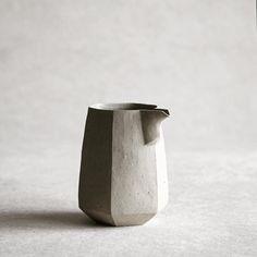 Unglazed stoneware katakuchi | Hitoshi Morimoto