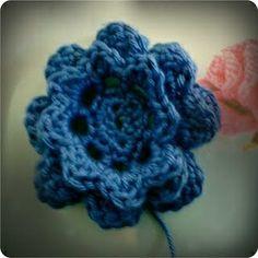crochet flower - TUTORIAL, # crochet.