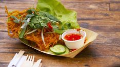 My Kitchen Rules Recipe - Sonya & Hadil's Bánh Tôm (Vietnamese Shrimp & Sweet Potato Fritter) Asian Potatoes, Shrimp Fritters, Seafood Recipes, Cooking Recipes, Sweet Potato Fritters, My Kitchen Rules, Asian Recipes, Ethnic Recipes, Latest Recipe