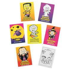 Mini Halloween Fun & Games Books - OrientalTrading.com