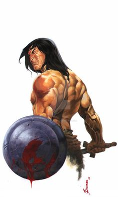 The barbarian class confers a number of unique specific abilities to the character. - My Dunsire Fantasy Heroes, Fantasy World, Red Sonja, Paladin, Larp, Conan The Conqueror, Cyberpunk, Jordi Bernet, Dragon Images