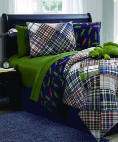 Take a look at this Alligator Reversible Comforter Set by Victoria Classics on #zulily today!