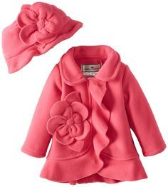 Widgeon Baby-Girls Infant Flower Ruffle Jacket, Paloma Pink, 18 Months