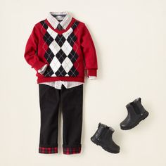 baby boy - outfits - plaid tidings - check the halls | Children's Clothing | Kids Clothes | The Children's Place
