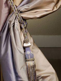Sausalito Striped Silk Curtains & Drapes