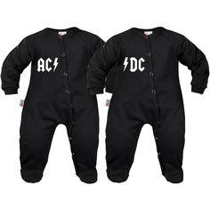 2 PYJAMAS BÉBÉ ROCK POUR LES JUMEAUX : AC / DC