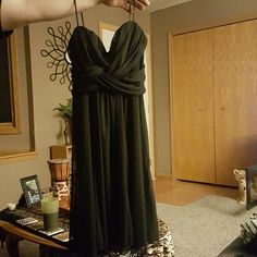 Spaghetti strap black dress Top crisscross at breast level then is flowing below Only worn once Great condition Size 9/10 but I feel it runs small Taboo Dresses