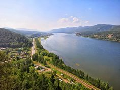 The city of Krasnoyarsk is the geographical centre of Russia, and lies on both sides of the Yenisei River, which divides Siberia into eastern and wester part #Russia #ExploRussia #explore #travel #trip #adventure #Krasnoyarsk #Siberia