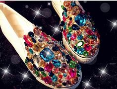 Diamond studded sneakers , best way to let people notice your footwear. If you want diamonds on them then head for Surat in Gujarat.  Diamond jewellery and accessories craftsmen at a famous jewellery shop in Athwalines in Surat, Gujarat, are embellishing a pair of shoes with 12,000 sparkling diamonds.
