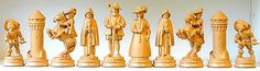 "#Grodner-tal (val #gardena) hand carved maple ""musketeers""? chess set #k=135mm,  View more on the LINK: 	http://www.zeppy.io/product/gb/2/221861312882/"