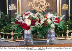 December wedding. Bouquets by: Alicia Jayne Florals