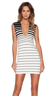 BEC&BRIDGE Reversible V Neck Dress in Stripe | REVOLVE