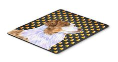 Australian Shepherd Candy Corn Halloween Portrait Mouse Pad, Hot Pad or Trivet