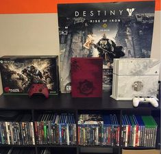 Brand new Xbox One S Gears of War 4 Limited Edition console housing shell case Destiny Xbox One, Destiny Rise Of Iron, Xbox One S, Ps4, Playstation, Pokemon Room, Destiny Bungie, The Taken, Game Room Decor